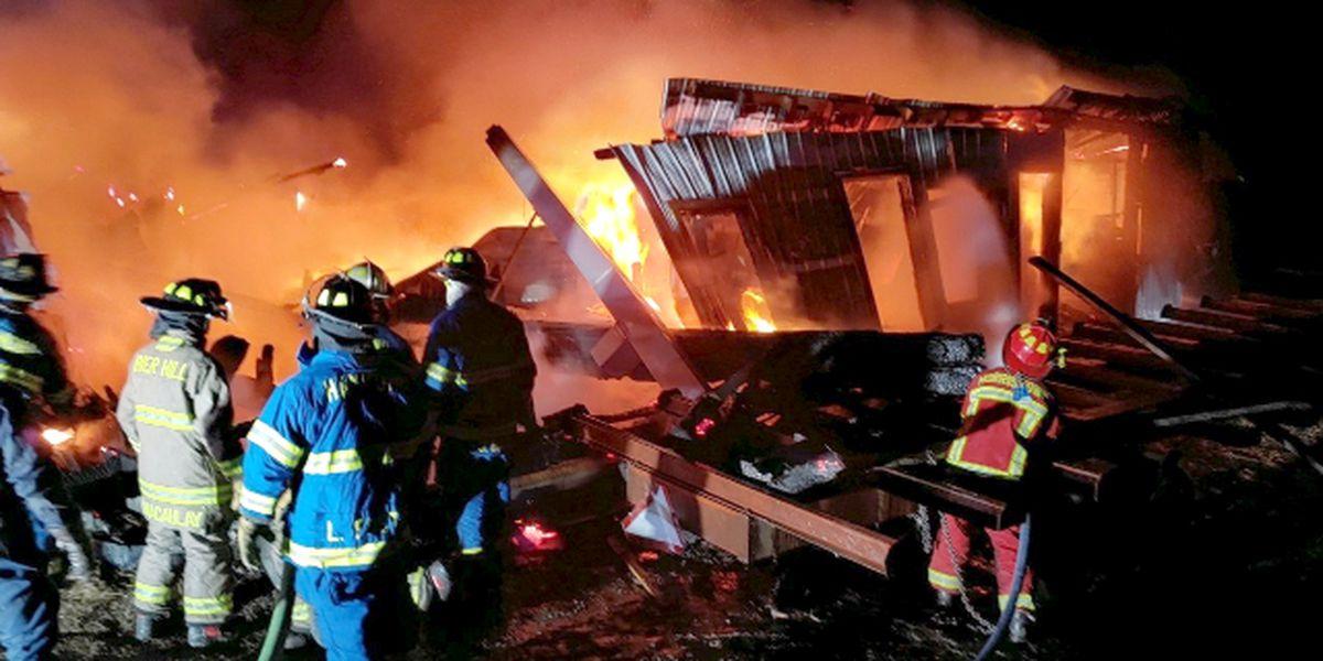 Sunday night fire destroys Hammond barn