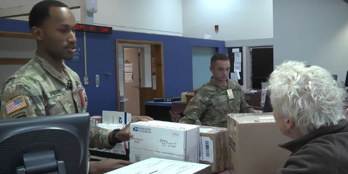 Fort Drum soldiers train with stamps and packages, not guns and ammo