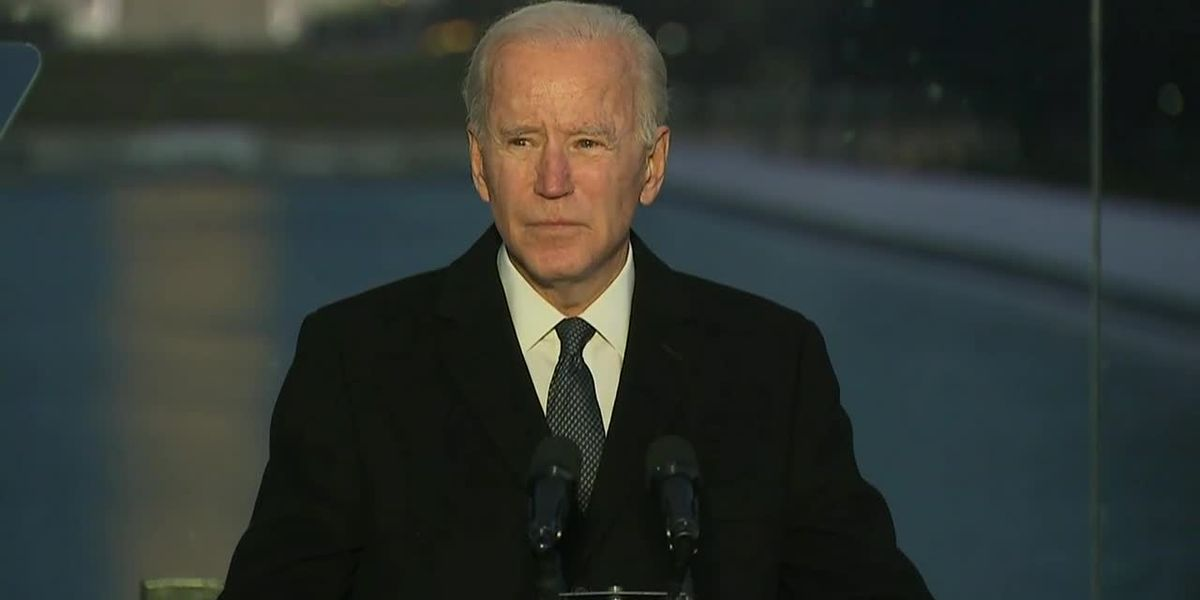 Biden speaks at COVID memorial in Washington