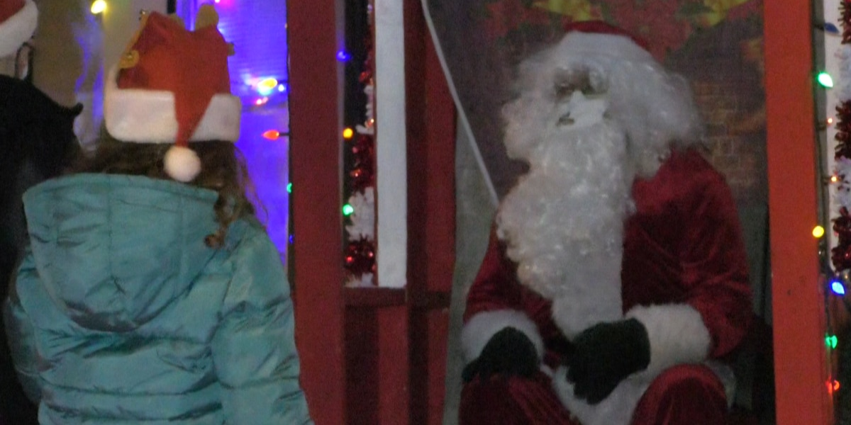 One Watertown family is in the giving spirit, transformed their yard for Santa