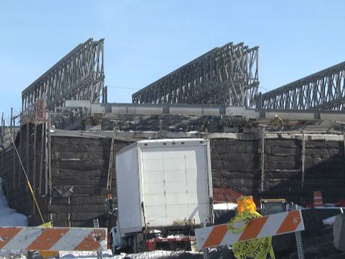 Temporary Arsenal Street bridge coming down