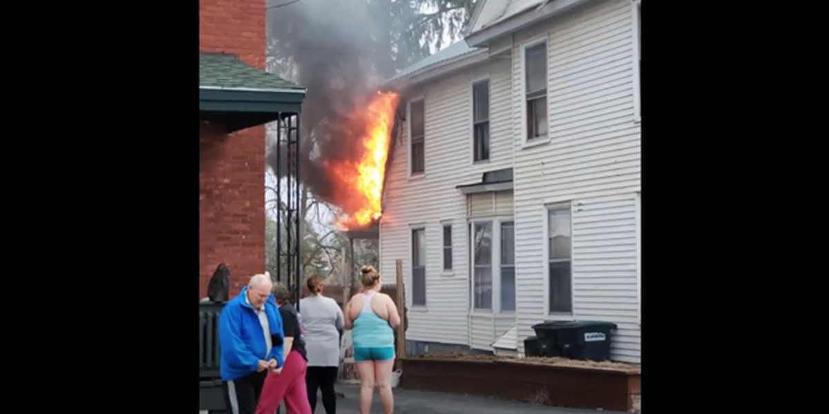 No injuries in Ogdensburg apartment house fire