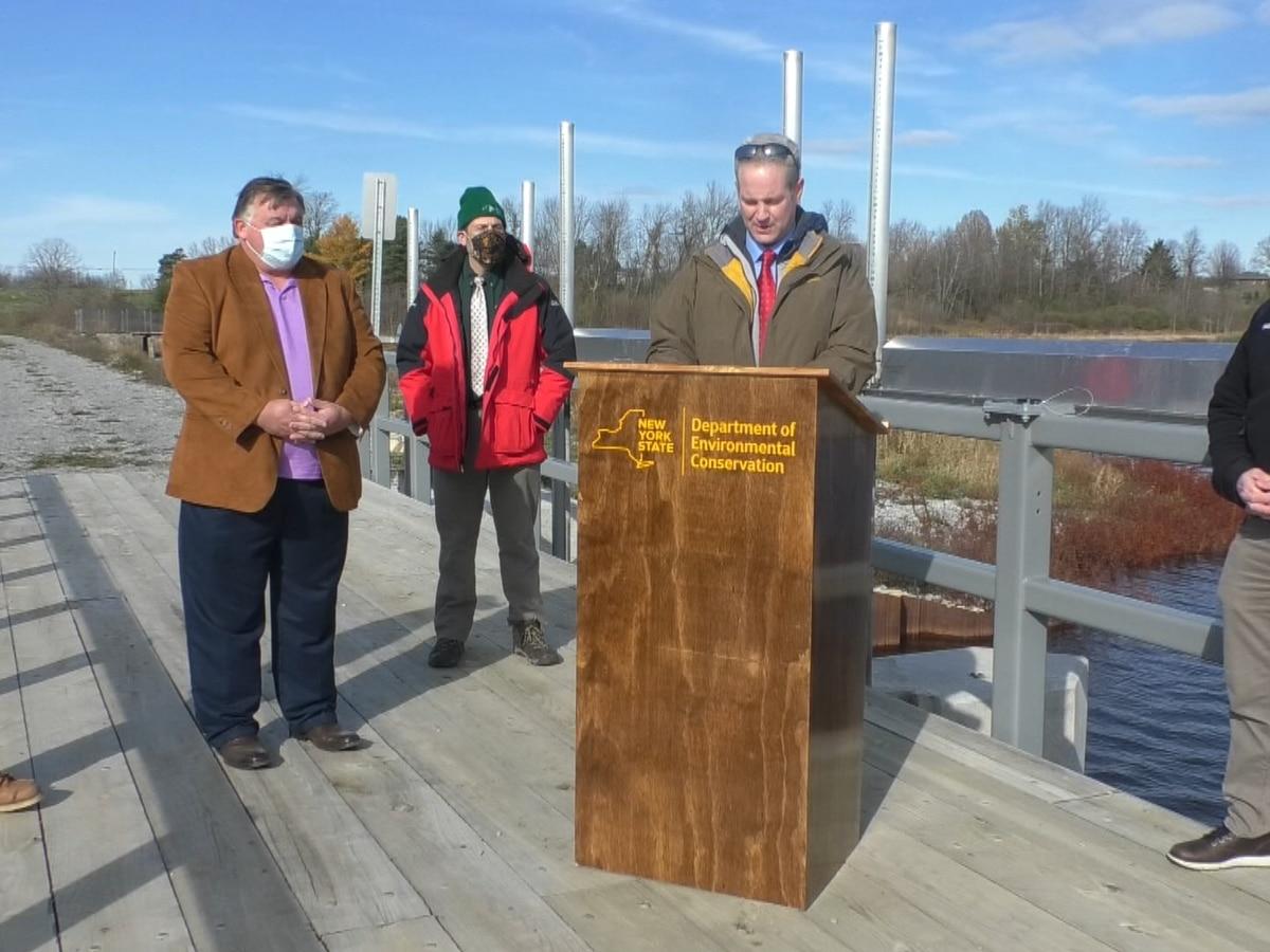 DEC celebrates dam project completion at Perch River Wildlife Management Area
