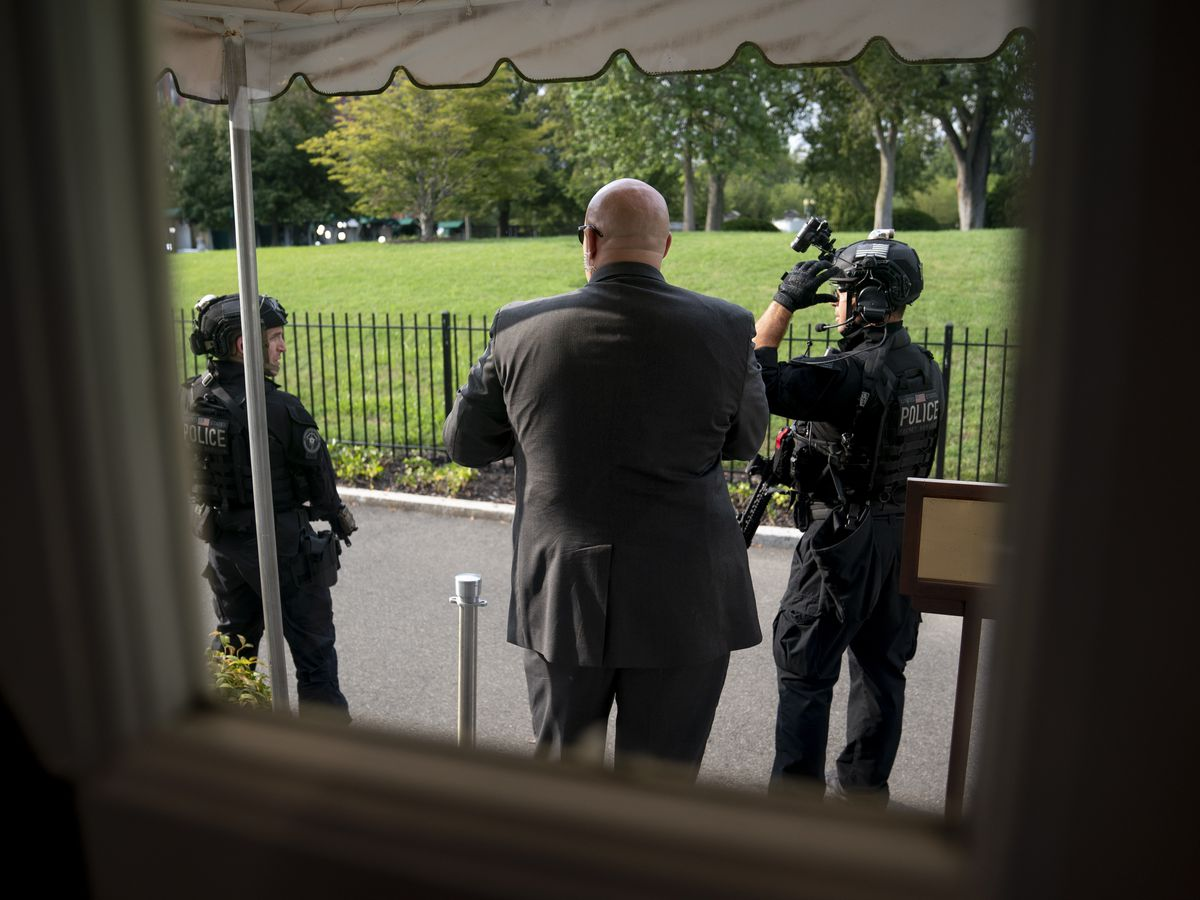 Trump abruptly escorted from briefing after shooting near White House