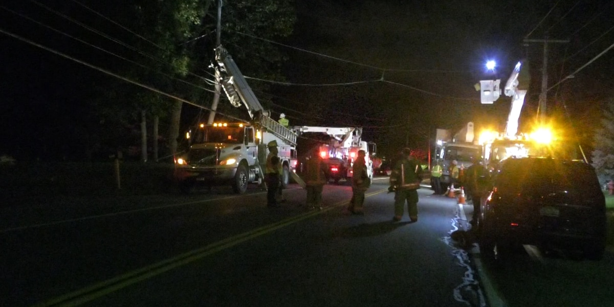 A section of Route 3 closed for hours after a vehicle crashes into a pole