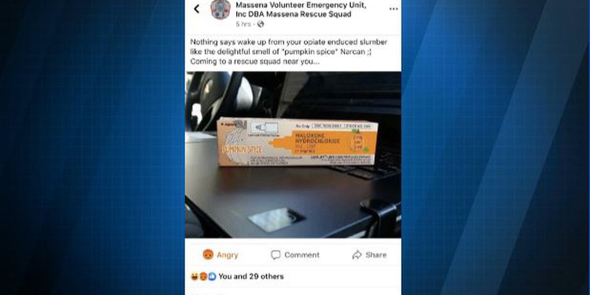 'Appalling' Facebook post about pumpkin spice Narcan removed
