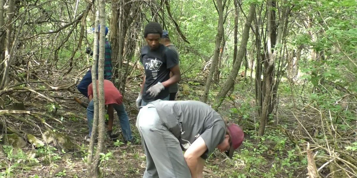 Thompson Park 'Friends' open new trail
