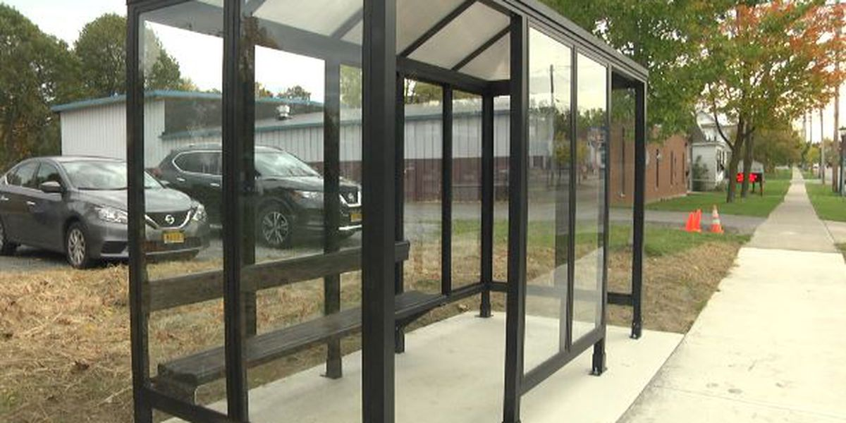 Watertown installing new bus shelters