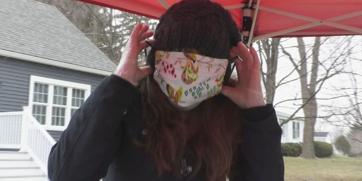 Volunteers sew face masks to help with shortage