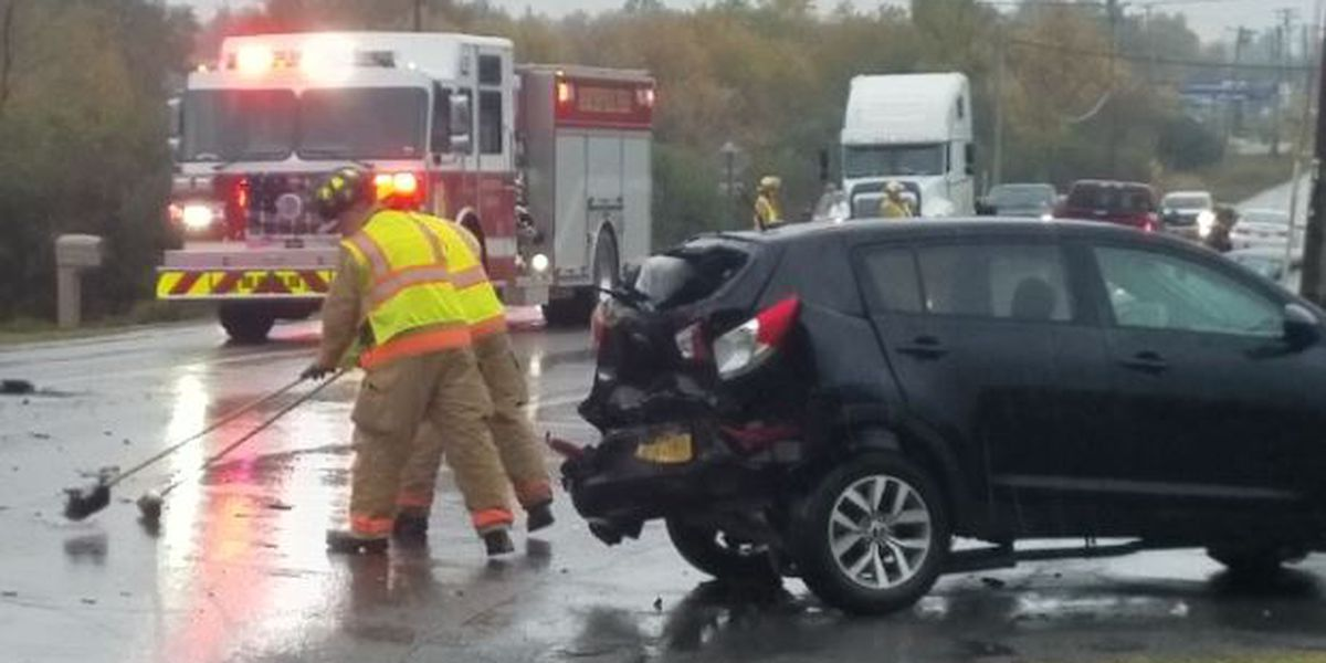 Emergency crews respond to multi-vehicle crash