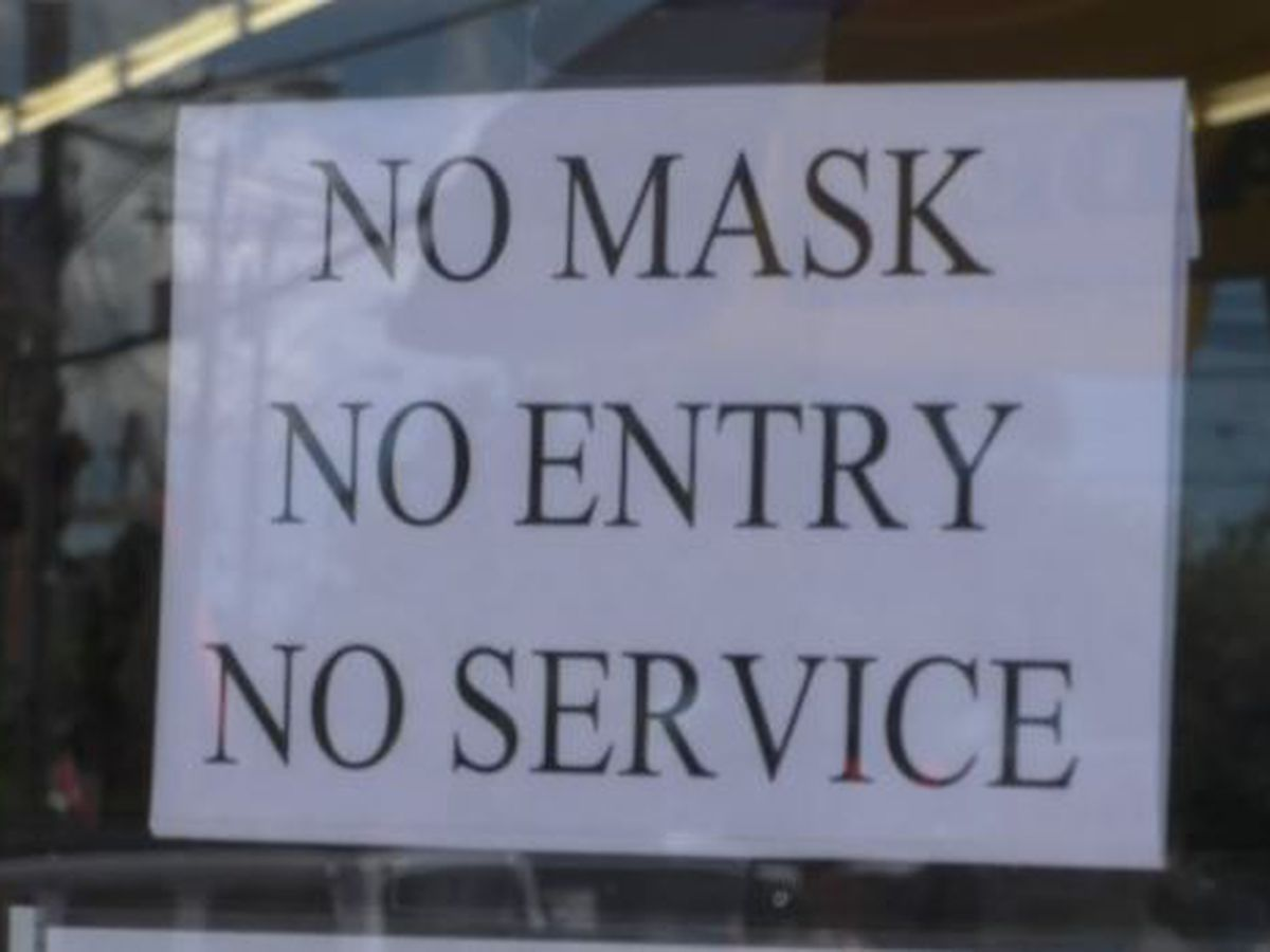State's crackdown of wearing masks is relief for some businesses
