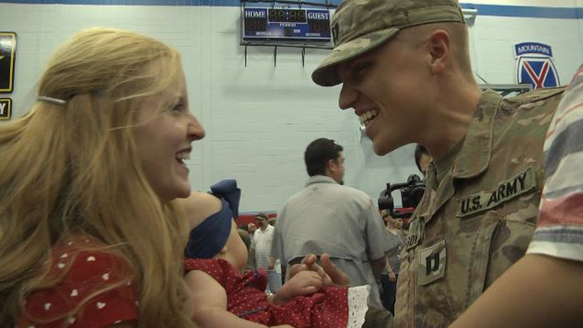 Fort Drum soldiers welcomed home from Afghanistan