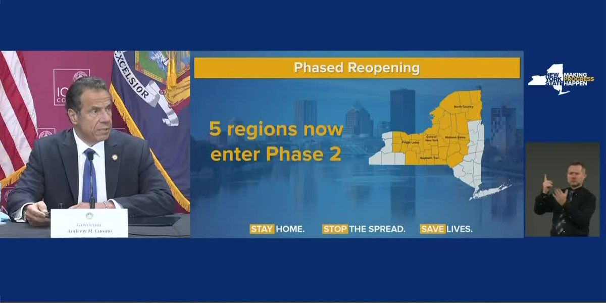 Cuomo approves north country for Phase 2 of reopening