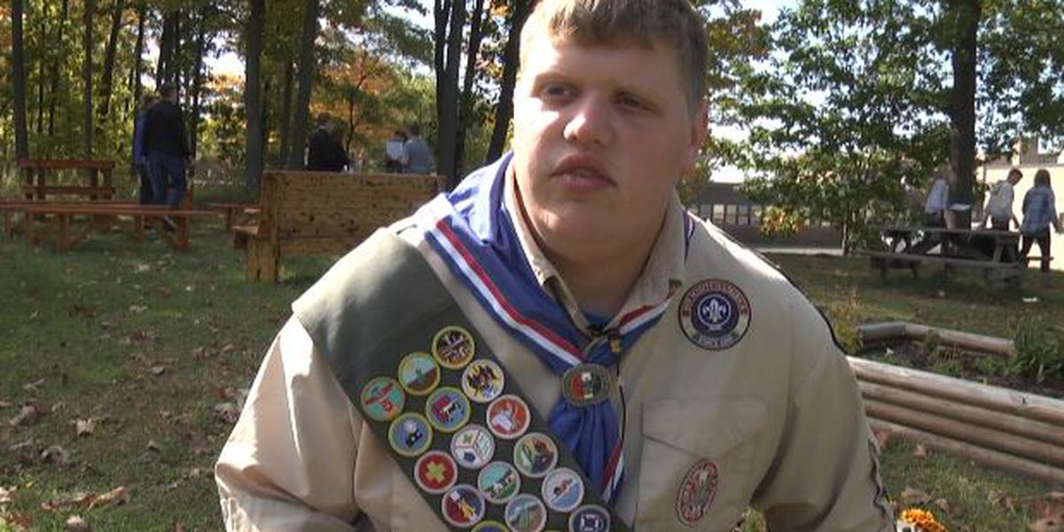 Boy Scout gets classroom moved outdoors