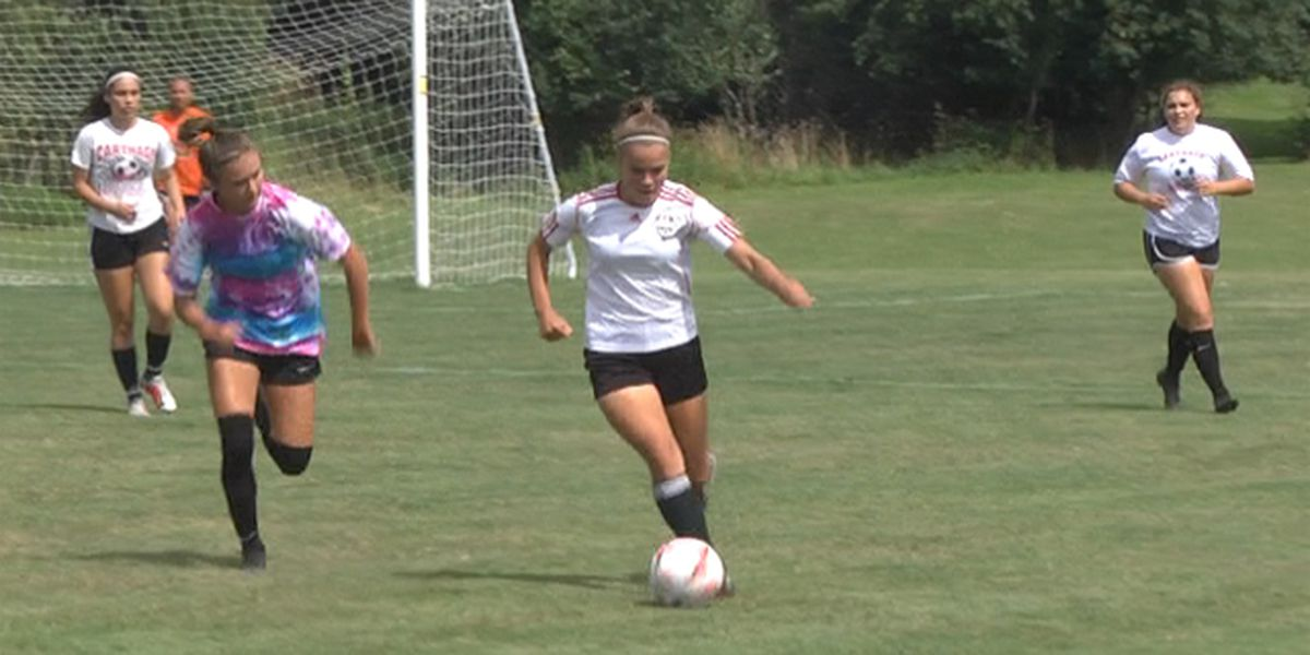 Scrimmage helps warm up girls' soccer teams for upcoming season