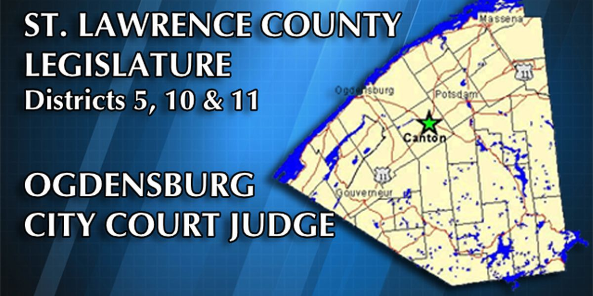 In St. Lawrence County, 3 legislature seats & 1 city judge post up for grabs