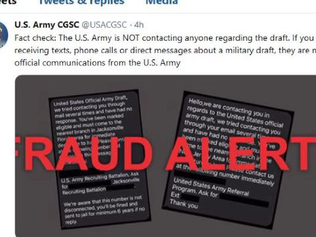 Army warns of fake text messages