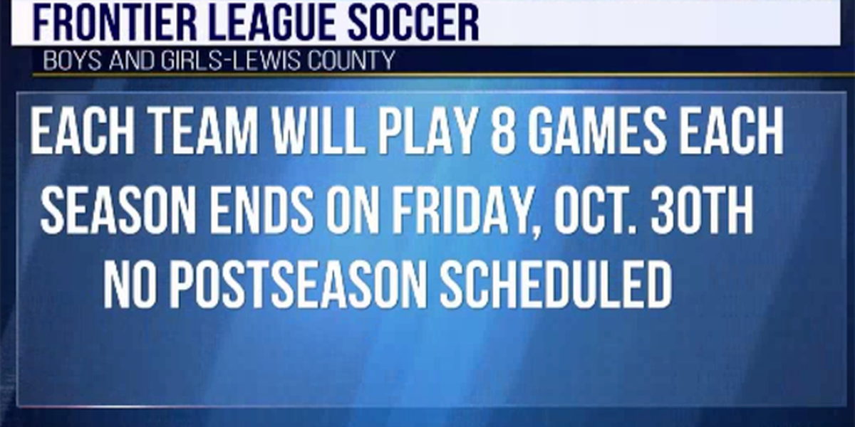 Schedule set for Lewis County soccer