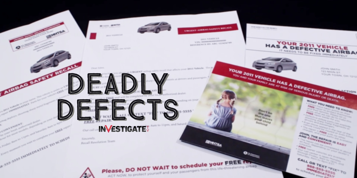 Deadly Defects: 17 million recalled Takata airbags still on US roads