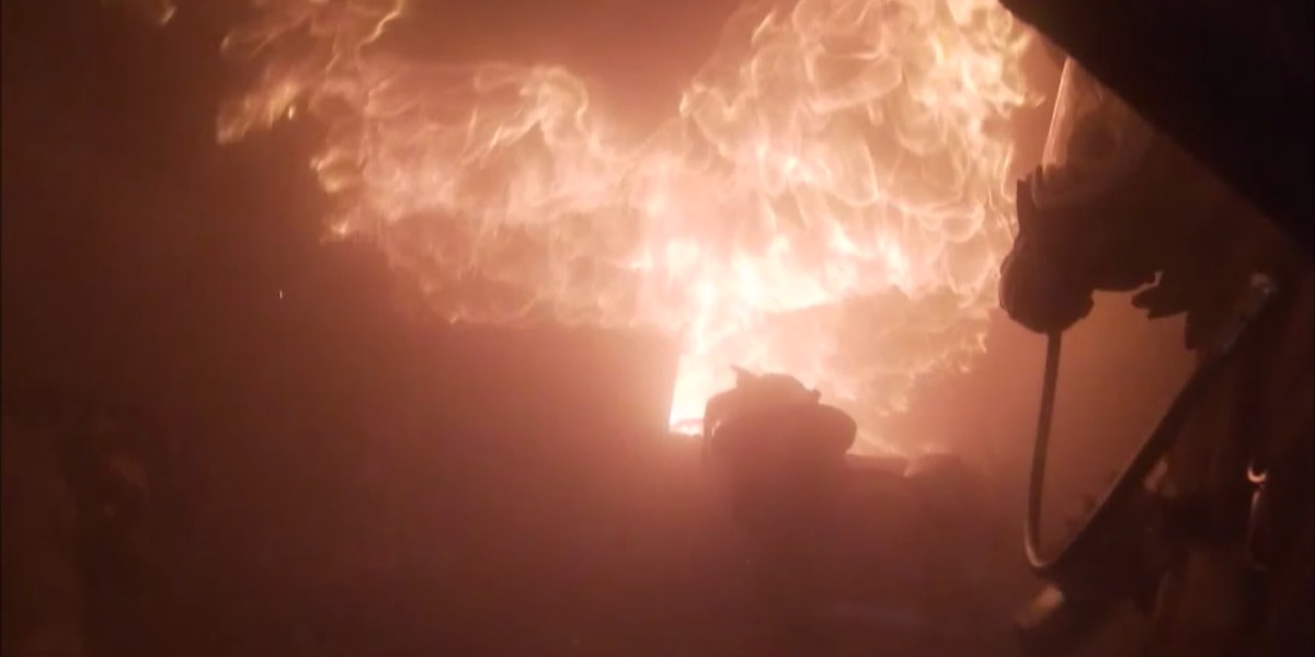 Firefighters gather in Adams for flashover fire training