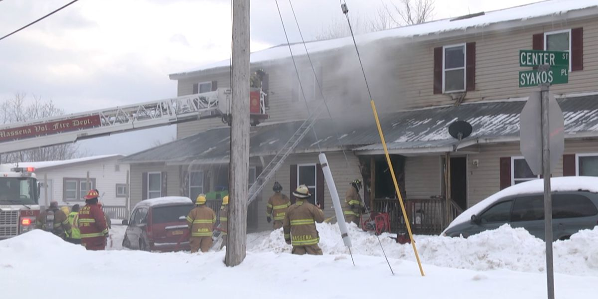 Massena apartment fire leaves about 2 dozen homeless