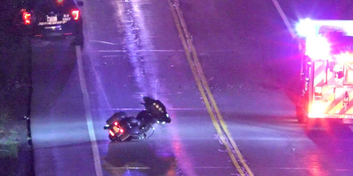 Motorcycle crash kills 1, injures another